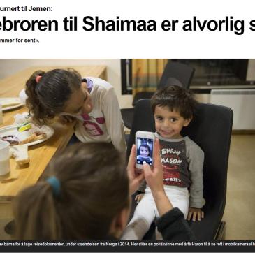 Hente tilbake Shaimaa og familien nå
