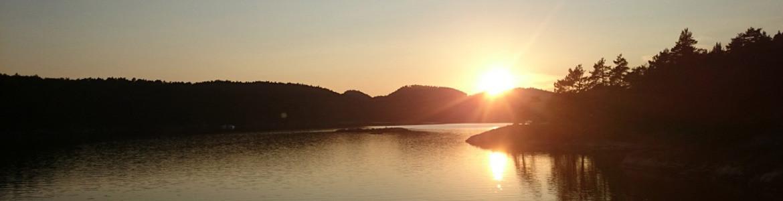 Solnedgang i Isefjærfjorden