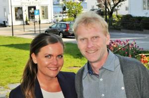Ordførerkandidat Jorunn Elisabet Lossius og 6. kandidat Geir Svenningsen