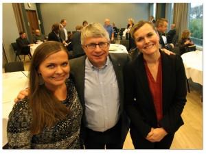 Jorunn Elisabet Lossius (KrF), Arne Thomassen (H), Cecilie Knibe Hansen (Ap). Foto: Svein Tybakken, Kristiansand kommune