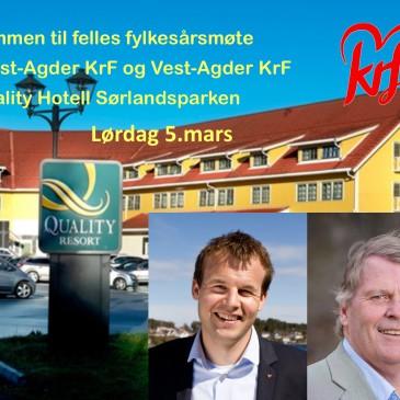 Kort fra årsmøtet til Aust-Agder KrF